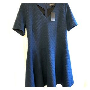 NWT- Eloquii Textured Navy fit and flare dress